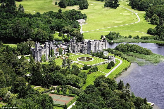 Ashford castle above  luxury travel bible