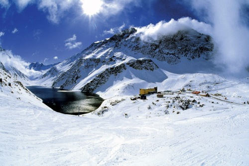portillo ski area and lake