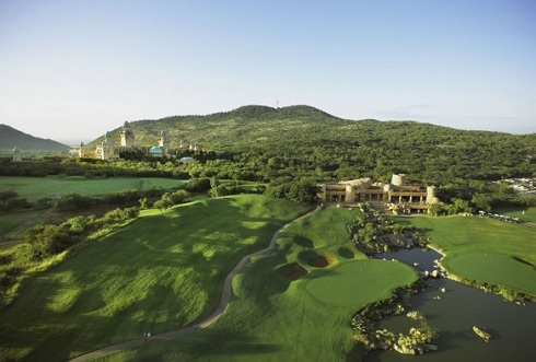 The 9th at Gary Player Country Club, Sun City, South Africa