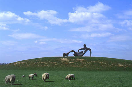 Henry Moore's Perry Green, England