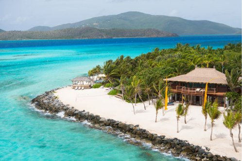necker island beach