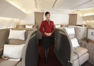 Luxury Air Travel in First Class Cathay Pacific